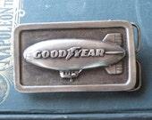 Vintage Goodyear Blimp Belt Buckle
