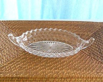 Vintage Fostoria American Clear Pattern Serving Dish