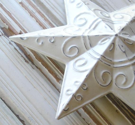 Metal star christmas tree topper shabby chic