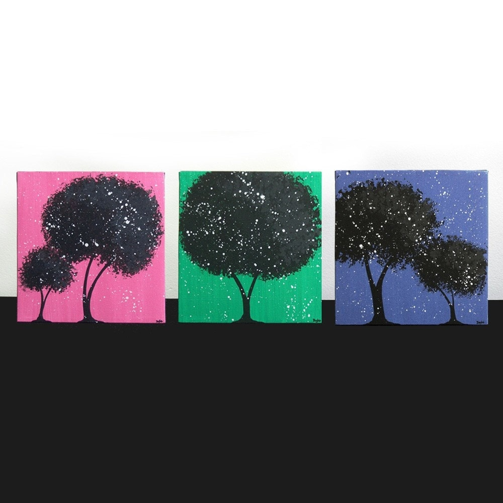 Wall Art For Teen Girls Room Decor Canvas Art Tree Paintings