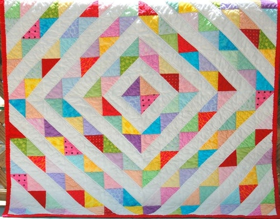Bright and Beautiful Wall Hanging or Baby Quilt