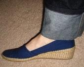Vintage blue espadrilles - size 10.5\/11