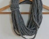 crochet Loops Neck Warmer Gray Chains