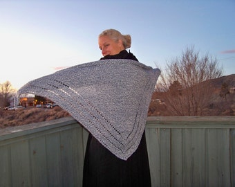 Denim Rag Triangle Shawl