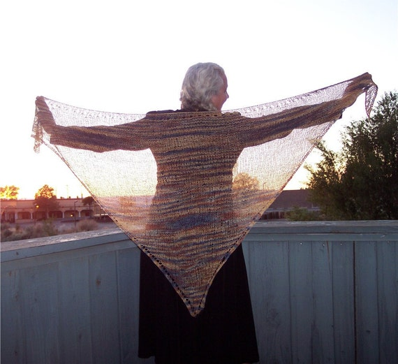 Simple Triangle Shawl, Multicolor