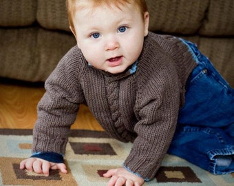 Knit Baby to Toddler Sweater Pattern