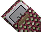 Kindle FireHD, iPad Mini, Nook HD, Nexus 7, Samsung Galaxy Tab, padded and moisture resistant cover, sleeve, case,  Modern Bud fabric