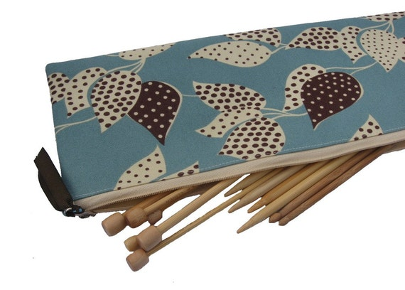 Storage case for knitting needles, County Fair fabric by Denyse Schmidt