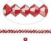Swarovski 3mm Light Siam 130 Crystal Bicone Bi-cone bead Destash