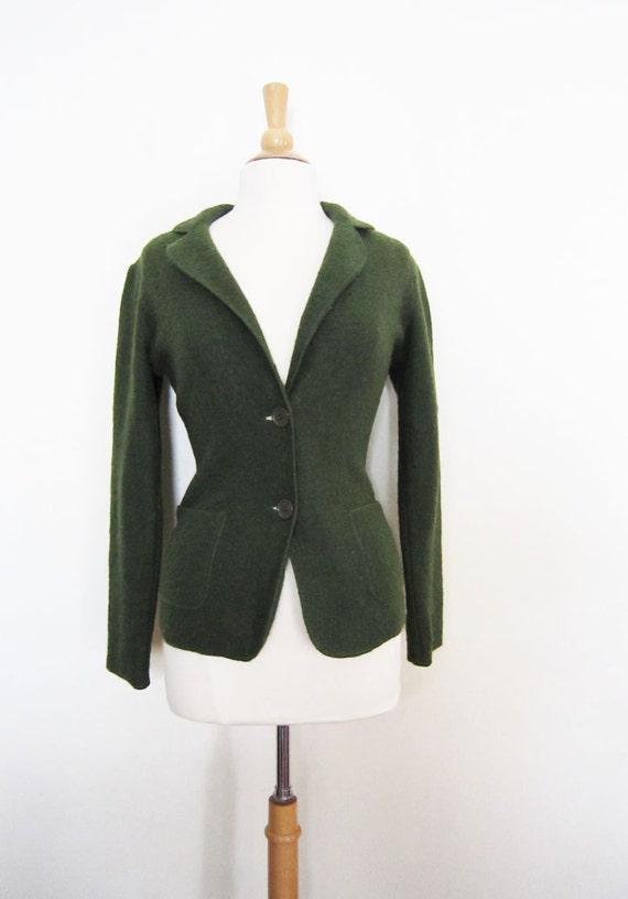 Vintage Forest Green Cardigan