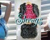 Faux Fur Shurg, Cropped Fur Vest , REVERSIBLE