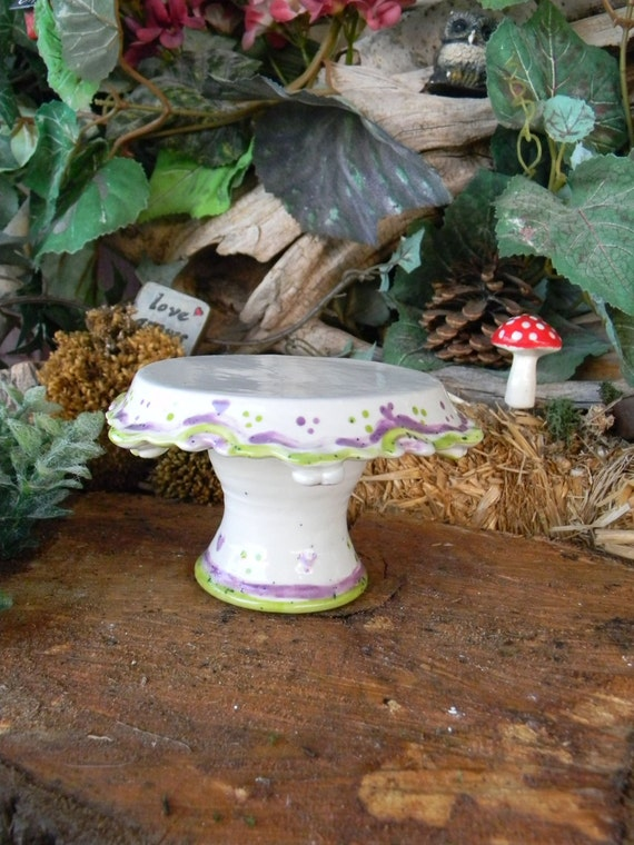 Mini Cake Stand - Cup Cake one serving dessert plate