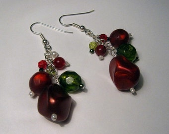 Funky Chunky Christmas Earrings