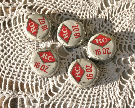 Items Similar To RC Cola Vintage Bottle Caps On Etsy