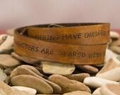 Leather Wrap bracelet , double wrap with adjustable buckle closure, men/women