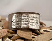 Live without pretending leather bracelet, customizable