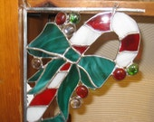 Stained Glass Corner Candy Cane