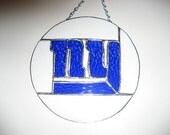 Stained glass NY Giants Plaque