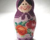 Russian doll matreshka (embroidered manually). E4