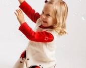 Ladybird White Wool Knit Dress  - Size 3 years - Ready to ship