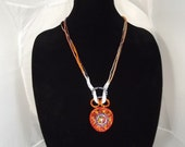Swaovski Focal Circle Graduated Color Necklace