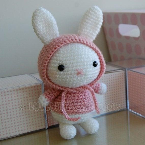 Conejo Kawaii Amigurumi Patron : Bunny Gurumi Crochet Pattern by LuvlyGurumi on Etsy