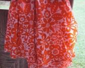 Orange Floral Cotton Gauze Swaddling Blanket