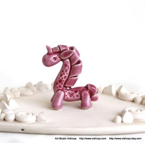 Tiny pink Unicorn by art-studio Vishnya