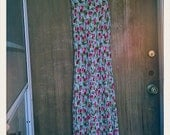 Vintage Betsey Johnson Tank  Maxi Dress With Cherries