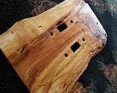Extreme Rustic Wood Switch Plate Double Toggle