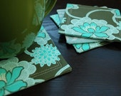 Coasters - DRIPS - Clematis Forest - Set of 4