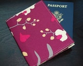 Passport Cover / Passport Case / Passport Holder - BARKA - Orchid Mulberry