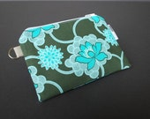 Zippered Pouch / Card Case / Change Purse / Business Card Holder - Clematis Forest