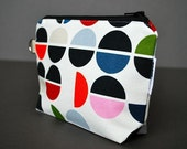 Zippered Pouch Large / Wristlet Case / Change Purse / Small Bag / Cosmetic Case / Pouch - Signal