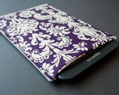 "Kindle Voyage Case / Kindle Fire Sleeve / Kindle Fire HD 10"" Case / Kindle Fire HDX / Kindle Fire HD 8"" - Damask Purple"