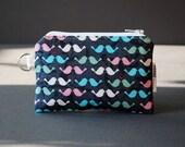 Zippered Pouch / Card Case / Change Purse / Business Card Holder - Love Birds