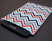 Kindle Oasis Case / Galaxy Tab Cover / Kindle Paperwhite Case / Nook Glowlight HD / Nook Simple Touch - Zig Zag Blue Red