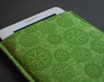 Kindle Paperwhite Case / Kindle Fire HD Case / Kindle Fire HDX Cover / Kindle Voyage Case/ Kindle Touch / Kindle Button - Green Medallion