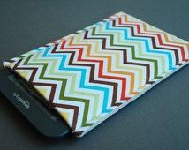 Kindle Fire HD Case / Kindle Fire HDX Case / Nook hd Plus / Nook HD Case - Zig Zag Rainbow