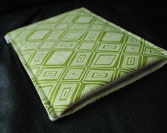 Kindle 7 Case / Kindle Touch Cover /  Kindle Paperwhite / Nook HD Plus Case / Nook Tablet - Sketch Squares Avocado