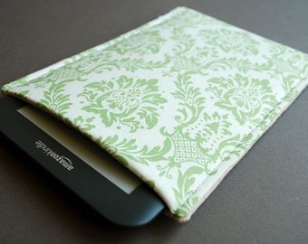 Nook Color Case / Nook Tablet / Galaxy Tab Nook / Nook Glowlight Plus Sleeve - Damask Mint