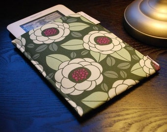 Google Nexus Case / Galaxy Tab Cover / Kindle Paperwhite Case / Nook Glowlight HD / Nook Simple Touch - Vintage Flower Green