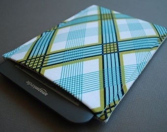 Kindle Paperwhite Case / Kindle Paperwhite Cover / Kindle Paperwhite Sleeve - Navy Plaid