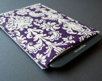 Kindle Voyage Case Kindle Fire Sleeve - Damask Purple