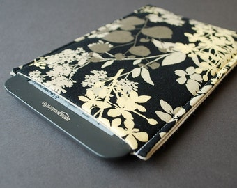 Kindle Paperwhite Case / Kindle Fire HD Case / Kindle Fire HDX Cover / Kindle Voyage Case/ Kindle Touch / Kindle Button - Gardens Black Gray
