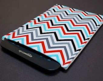 Google Nexus Case / Galaxy Tab Cover / Kindle Paperwhite Case / Nook Glowlight HD / Nook Simple Touch - Zig Zag Blue Red