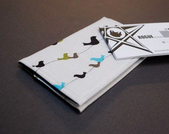 Business Card Case  / Card Holder / Credit Card Holder - Birds on a Wire