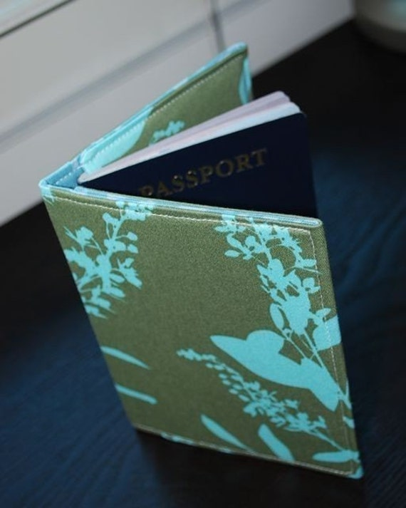 Passport Cover  / Passport Cozy / Passport Case - BARKA - Mint Crush