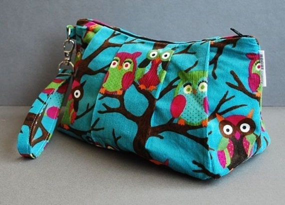 Clutch Bag / Wristlet Bag / Small Purse / Evening Bag / Girls Night Out  - Hooterrific
