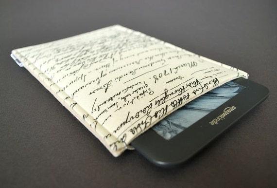 Nexus 7 Case / Kindle 4 Case / Kindle 3 Case / Kindle Fire / Nook Simple Touch / Google Nexus 7 Cover - Vintage Script